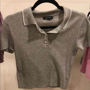 Kendall and Kylie cropped shirt